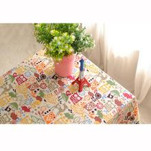 Newest Owl Table Cloth Pure Cotton and Linen Animated Cartoon Owl Table Cloth Levert Dropship dig6921(China)