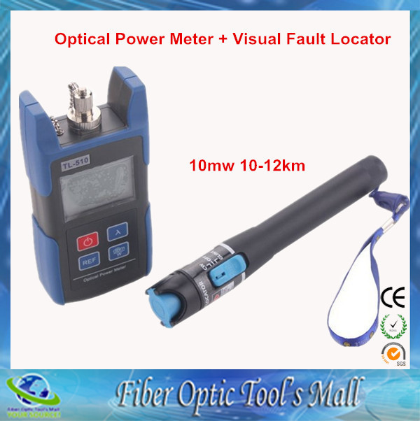 TL510 TL510A TL510C Optical Power Meter FC SC ST Connector +TL532 Red Laser Fiber Optic Cable Tester (Range: 10-12km)