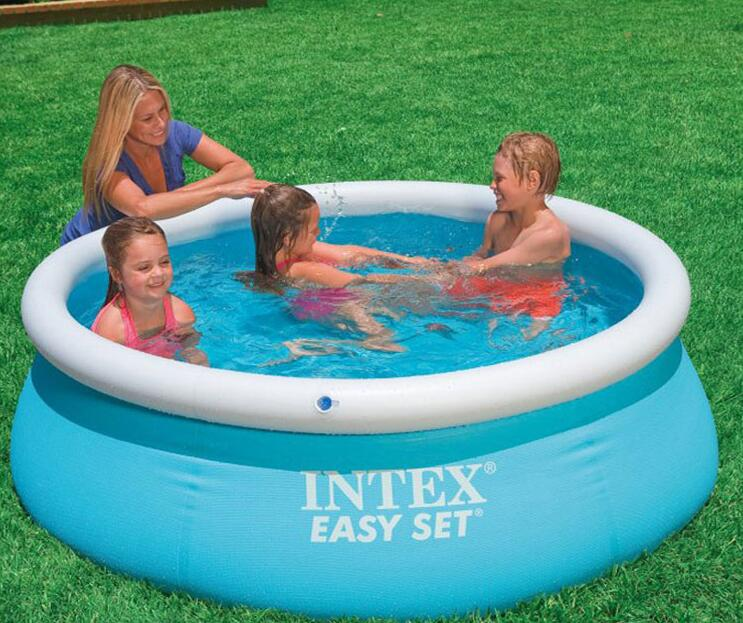 Six-foot pool INTEX 54402 28101 butterfly large pools family swimming baths frame size 183 * 51cm With hand pump(China)