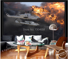 Custom 3 d papel DE parede helicopter photo wallpaper restaurant of the sitting room the bedroom TV wall paper vinyl