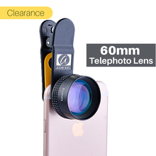 Ulanzi Professional Portrait Phone Lens 60MM HD Camera Phone Lens with Universal Clip for iPhone X 8 7 Plus Android Smartphone(China)