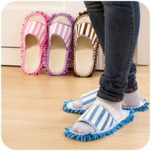 Multifunction Microfiber Dust Mop Slippers Novelty Bedroom Slippers Home Cleaning Shoes(China)
