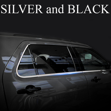 2 colors Black and Silver Stainless for Ford Explorer windows pillar side cover trims 2011 2012 2013 2014 2015 2016 2017 year