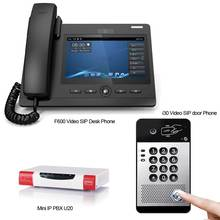 Mini IP PBX Phone System Smart video door phone Doorbell Camera 1MP VoIP product SIP Desk Phone Android 4.2 OS System