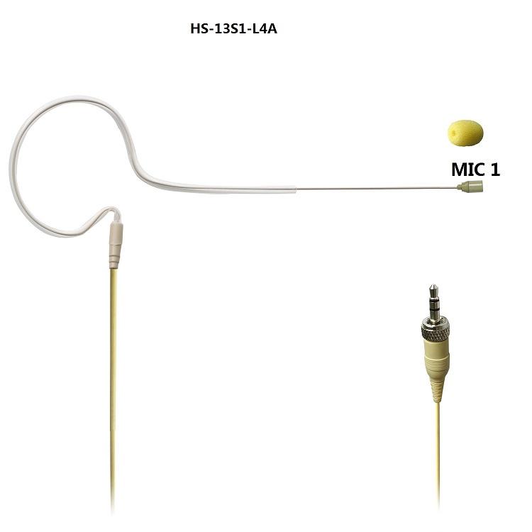 L4A   02  single ear headset microphone