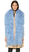 Various Colors SJ187-01 New Arrival Top Quality Fur Scarf 155cm*17cm Mongolian Sheep Fur Big Scarf Collar Women