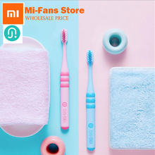 Buy 2017 New 2pc/set Xiaomi Doctor Bei Kid Toothbrush blue/pink Food Grade Material Imported Soft Brush 6-12 Year Old Children for $13.79 in AliExpress store