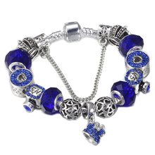 HOMOD Mickey Hat Dangle Perfume Bottle Charm Beads Bracelets For Women Brand Bracelets Pulseras DIY Jewelry(China)