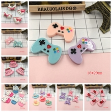 Free Shipping! Resin Kawaii Birthday Cake, Cute Game Player, Horse Flat Back Cabochons for Hair Bow Center,Scrapbooking, DIY(China)
