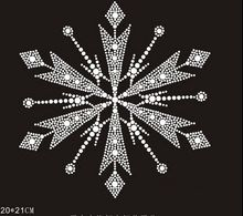 2pc/lot Froze snowflake hot fix rhinestone transfers iron on crystal transfers design applique patches for shirt dress(China)