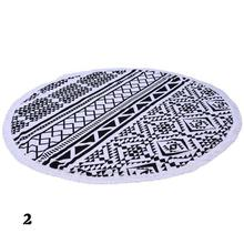 Europe  & United States style Hot Round Beach Towel Yoga Mat Floral Print Camping Pad Adults Women Swimming Sunbath