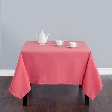 Fedex IE 70 in./180cm Square Polyester Tablecloth Coral for Wedding Event Banquet Party 20/Pack(China)