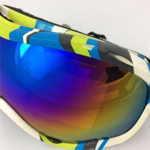 Fashion ski goggle store UV 400 antifog snowboard goggles double lens PC TUP frame anti fog goggles spherical ski goggles skiing
