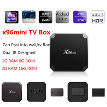 Original X96 mini Android TV S905W Support 2.4GHz WiFi 1G 8G 2G 16G H.265 100M LAN X96Mini Set Top Box With IR Cable