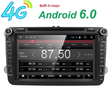 "Free shipping 7""2din android6.0 car dvd gps navigation car multimedia for vw passat b6 vw polo jetta goft radio 4G wifi SWC DVBT"