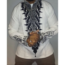Adult Men African Fashion Ethnic White Hippie Shirt Long Sleeves Stitching Tops Blouse Tribal Pullover Dashiki Wedding Shirt XXL(China)