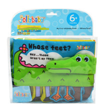 Jollybaby Cloth Books Soft Newborn Baby Toys Cute Cartoon Animal Crocodile Toddlers Infant Development Children Educational Toy