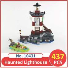 BELA Building Blocks 10431 Scooby Doo Haunted Lighthouse 75903 Model Compatible Lepin Legoed Figure Toy For Children 437 PCS
