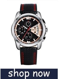 YISUYAแฟชั่นลำลองผู้ชายนาฬิกาอะนาล็อกควอตซ์ฉลามสีดำสแตนเลสตาข่ายวงสร้างสรรค์นาฬิกาข้อมือท... 15