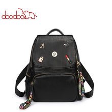 Luxury Backpack Bag Women Fashion Designer Bags Top Handle Fine Leather Branded Satchel Free Shipping(China)