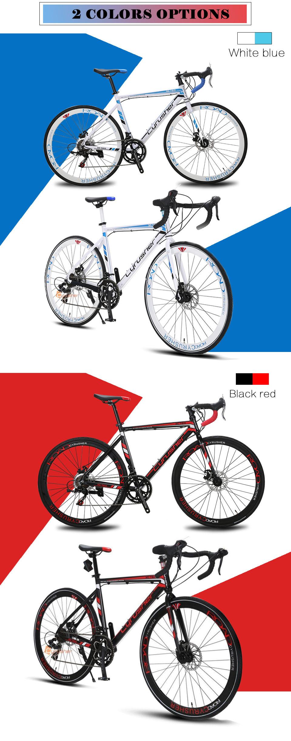 Cyrusher City Road Bike | Aluminum Alloy Frame 14 Speeds Double Disc Brake