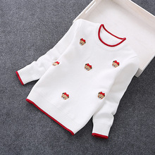 2016 new girls' sweaters 2-7 years cotton sweaters children clothing 8027