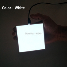 3 Modes 10x10cm Bright White EL Sheet Neon Led Strip Babyroom Night Lights Illuminate Cold Light Sound Active Panel with Driver