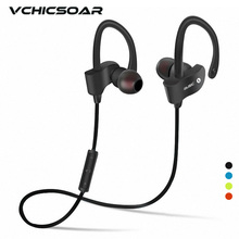 Vchicsoar S4 Sports Wireless Bluetooth Earphone Stereo Earbuds Headset Bass In-Ear Earphones with Mic for iPhone 7 Samsung Phone(China)