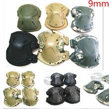 9MM With tracking number Tactical paintball protection knee pads & elbow pads set Tactical X-tak pad Paintball Accessories