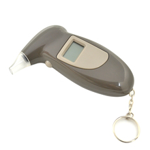 Hot Sale Professional Key Chain Police Digital Breath Alcohol Tester Breathalyzer Analyzer Detector Audio Alert Free Shipping(China)