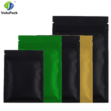 100pieces/lot 8.5*13cm Colors Resealable Aluminum foil plastic pouch packaging Flat Bottom Green ziplock bags(China)