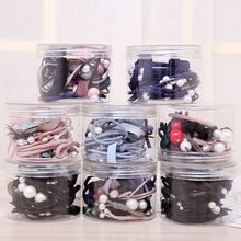 Buy 12Pcs/Set Cute Bowknot Headwear Hair Ropes Elastic Ribbon Rope Cute Hair Ties Bow Elastic Hair Band Girls Hair Accessories for $3.79 in AliExpress store