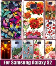 Free shipping Colorful Brilliant Rose Flowers Painted Phone Cases Cover For Samsung Galaxy S2 i9100 Phone case cover skin hood