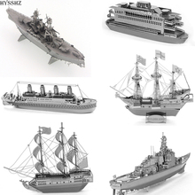 3D Metal Earth Titanic/Black Pearl/Golden Hind Metal Model Toys Gift For Children Education DIY Puzzle Toys For Kids And Adults