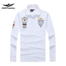 New Models aeronautica militare camisa masculina polo mens Long sleeve Polo shirt brands Air force one shark solid polo shirt Z