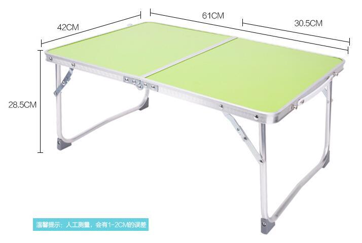 62*42*28.5cm Folding Laptop Desk Portable Aluminum Notebook Table Lazy Bed Desk