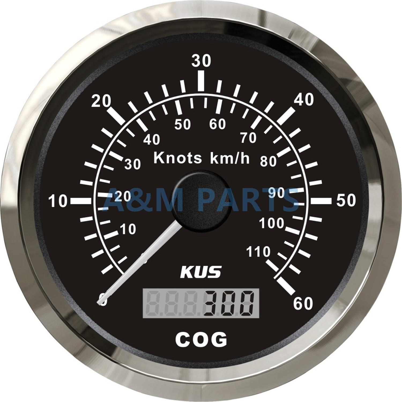 85mm Car Boat Digital LCD GPS Speedometer Marine Odometer Gauge 0-15Knots 17MPH