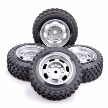 4PCS/set 12mm Hex 1:10 Rally Rubber Tires Wheel Rim 11083 For HSP HPI RC Car(China)