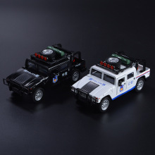 Diecast Metal Car Toys 1:32 Scale Pull Back Simulation Alloy Cars Light & Sound Police Model Collection Car Kids Toys