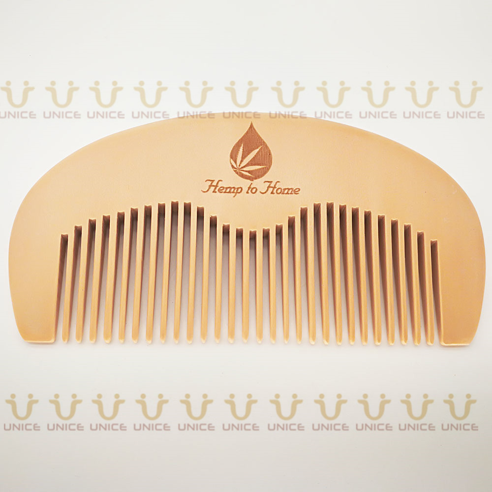 100pcs/lot Your LOGO Customized Private Label Combs Hair Beard Wood Comb for Men & Women for Barber Shop Retail Case 33