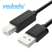 yeulnelg High Speed USB 2.0 Type A to B Male to Male Scanner Printer Cable Sync Data Charging Cord(0.5M/1M/1.5M/2M/3M/5M)(China)