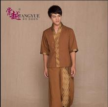 High Quality Thai SPA for men Summer Beauty salon uniforms Thai Massage clothes(China)
