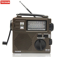 100% New Original TECSUN GR-88 Digital Radio Receiver Emergency Light Radio Dynamo Radio With Built-In Speaker Manual Hand Power
