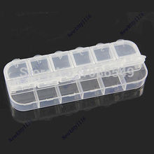 12 Cell Empty Plastic Storage Beads Rhinestones Box Case False Nail Art Set Tips Free shipping-Y102(China)