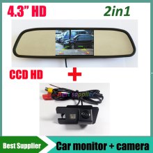 4.3inch Car monitor +  CCD car rear view parking reverse camera For For Great wall Hover H3 H5 H6 Car backup reversing camera