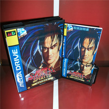 Samurai Spirits Hack Version Japan Cover with box and Chinese manual For Sega Megadrive Video Game Console 16 bit MD card(China)
