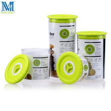 4pcs Plastic Canister Sets Sealed Kitchen Food Storage Container With Lid Snack Dry Fruit Storage Bottles(China)