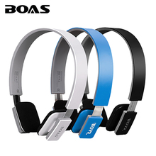 BOAS Wireless bluetooth 4.1 headphones stereo handsfree sport running headset earphones with MIC for iPhone xiaomi ipad PC girls