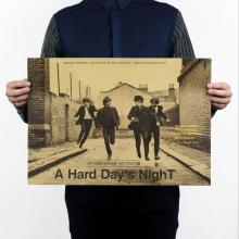 The Beatles Rock Band Music Kraft Paper Poster Bar Cafe Vintage High quality Printing Drawing Decorative Painting R6(China)