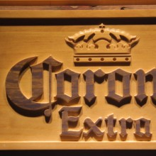 Corona Extra Beer 3D Wooden Sign